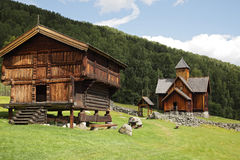 Uvdal stave church norway Stock Photography