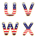 UVWX patriótico Imagenes de archivo