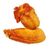 uwędzeni kurczaków skrzydła Obrazy Royalty Free