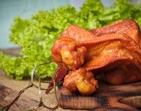 uwędzeni kurczaków skrzydła Zdjęcia Royalty Free