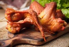 uwędzeni kurczaków skrzydła Fotografia Stock