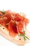 Uwędzeni mięso plasterki Fotografia Royalty Free