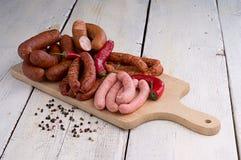 Kiełbasa, peppercorns i chili, Zdjęcia Royalty Free
