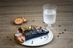 Uwędzona makrela życia zbliżenie, wciąż Zdjęcie Royalty Free