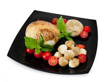 Uwędzony provola Di Bufala, świeży ser, włoski nabiał Obraz Stock