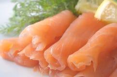 Uwędzony salman Zdjęcia Royalty Free