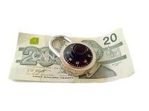 Is uw Brandkast van het Geld Stock Fotografie