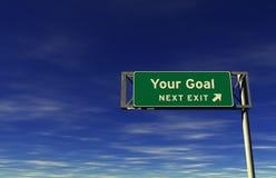 Uw Doel - het Teken van de Uitgang van de Snelweg Stock Foto