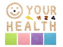 Uw gezondheid die van graangewas wordt gemaakt royalty-vrije stock fotografie