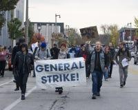 UW-Milwaukee-Arbeitsniederlegung Lizenzfreie Stockfotos