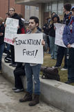 UW-Milwaukee Union-Rights Rally Royalty Free Stock Photo