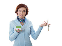 Uw nieuw huis - het concept van de onroerende goederenlening Royalty-vrije Stock Afbeeldingen