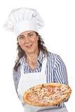 Uw smakelijke Italiaanse pizza royalty-vrije stock afbeeldingen