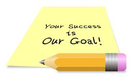Uw succes is ons doel stock illustratie