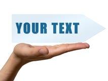 Uw tekst royalty-vrije illustratie