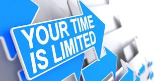 Uw Time Is Limited - Etiket op de Blauwe Wijzer 3d Stock Afbeeldingen