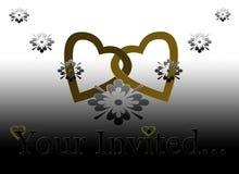 Uw Uitgenodigde Uitnodiging van het Huwelijk van de Verjaardag Royalty-vrije Stock Foto
