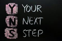 Uw volgende stap Stock Foto's