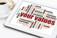 Uw wolk van het waardenwoord Royalty-vrije Stock Fotografie