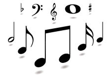 uwaga muzyczna royalty ilustracja