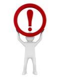 Uwaga. ruchu drogowego znak na białym tle Obrazy Stock