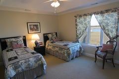 uwagi na nabrzeże sypialnia zdjęcie royalty free