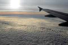 uwagi na samolot okno Zdjęcia Stock