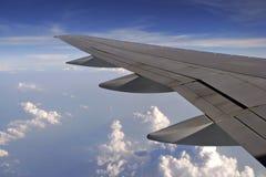 uwagi na samolot okno Obrazy Royalty Free