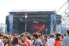Uwalnia koncert Zdjęcia Stock
