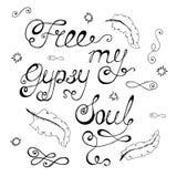 Uwalnia mój gypsy duszę royalty ilustracja