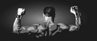 Uwalnia mężczyzna na czarnym tle Fotografia Royalty Free