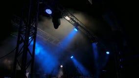 Uwalnia scenę z światłami przed koncertem zbiory wideo