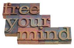 uwalnia umysł twój Zdjęcie Stock