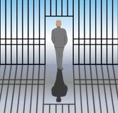 Uwalniający od więzienia royalty ilustracja