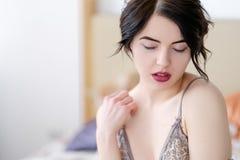Uwiedzenie płci przyjemności zachwyta dziewczyny gorąca bielizna zdjęcia stock