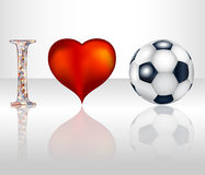 uwielbiam football Obraz Stock