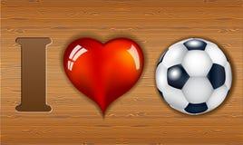 uwielbiam football Obrazy Royalty Free
