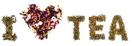 uwielbiam herbatę obraz stock