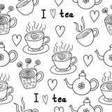 uwielbiam herbatę Zdjęcie Royalty Free
