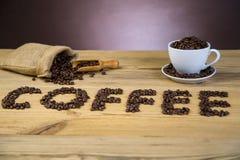 uwielbiam kawę obraz stock
