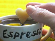 uwielbiam kawę Obrazy Stock