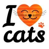 uwielbiam koty Fotografia Royalty Free