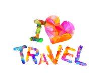 uwielbiam podróże Wektorowa inskrypcja Fotografia Stock