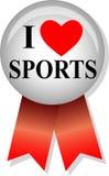 uwielbiam sport eps przycisk Zdjęcia Stock