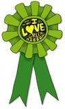 uwielbiam zielony wstążki Obrazy Royalty Free