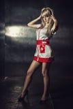 Uwodzicielska pielęgniarka Zdjęcia Stock