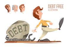 uwolnij dług ilustracja wektor