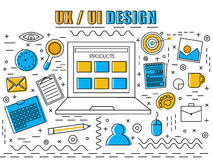 UX et UI conçoivent des éléments d'Infographic pour des affaires illustration de vecteur
