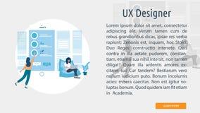UX formgivare Conceptual Banner stock illustrationer