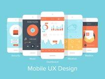UX mobile Fotografie Stock Libere da Diritti